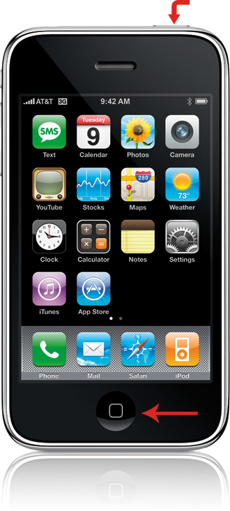 iPhone 3G Power and Home buttons